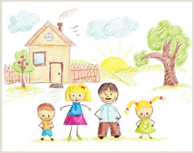 """Rysunek rodziny - Bajka terapeutyczna """"O ciepłym i puchatym"""""""