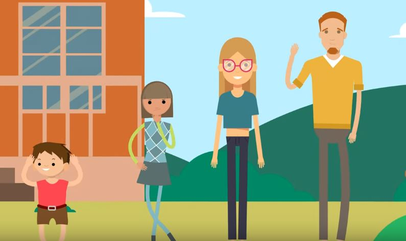 Obrazek rodziny czteroosobowej